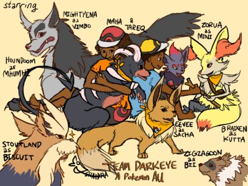 Darkeye Pokemon AU, by Shaydradraws!