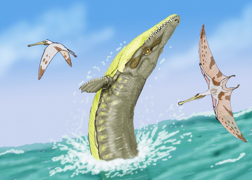 Dakosaurus displaying a whale-like behavior that I'm slightly skeptical of. (But it looks cools.)