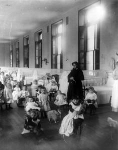 American orphanage circa 1890.